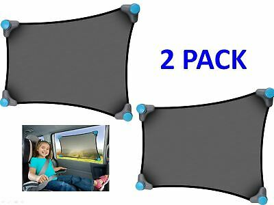 Munchkin Brica Stretch To Fit Car Window Sun Shade Visor - 2 Pack