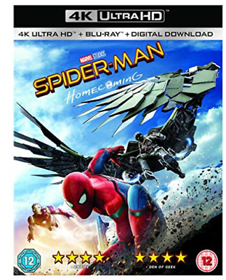 Spider-Man Homecoming (2 Disc Bd & Uhd) (UK IMPORT) DVD NEW