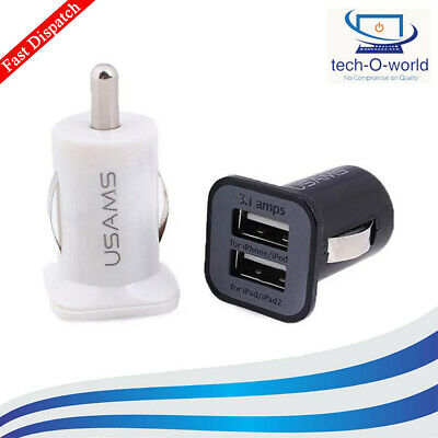 3.1 Amp Usams Twin 2 Port Usb In Car Charger