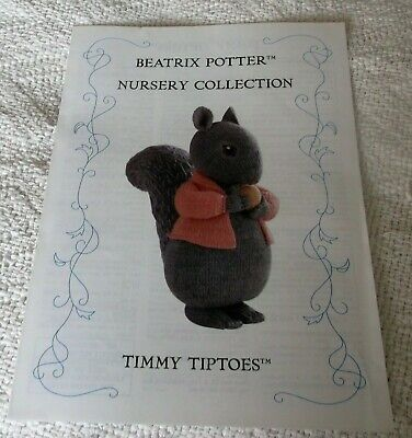 "Beatrix Potter Nursery Collection ""Timmy Tiptoes"" Toy Knitting Pattern Alan Dart"