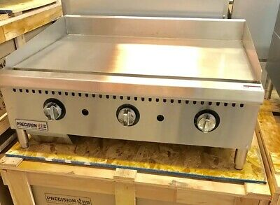 "36"" Griddle Thermostatic Flat Grill 3' New Thermostat Commercial Gas Temperature"