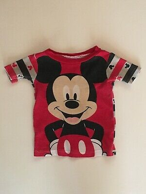 Disney Baby Mickey Mouse Short Sleeve Shirt 12 Months B053