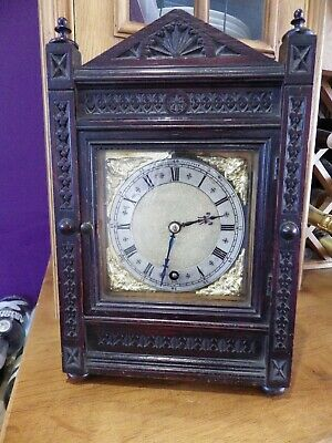 W & H Mantle Clock With The Movement Having Full Restoration Cracking Clock.