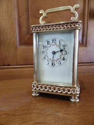 French Carriage Clock Fully Restored Case & Movement Rare Case Style 1890-1910