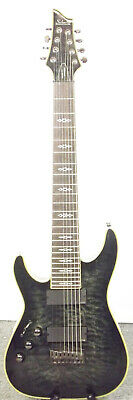 Gorgeous Lefty Black Flame Schecter Hellraiser C8 Special