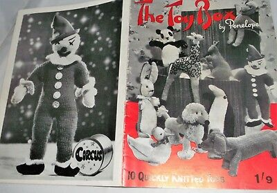"RARE, ORIGINAL, VINTAGE 1950's KNITTING PATTERN ""THE TOY BOX"" No. 43 by PENELOPE"
