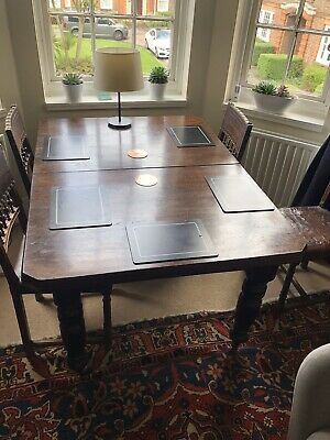 Victorian Wind-out Extendable Antique Dining Table One Leaf