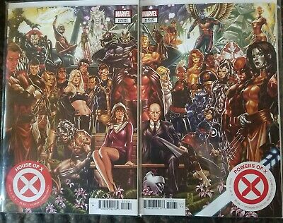 House of X #1 & Powers of X #1 Brooks Connecting Covers -1st Prints-(2019) NM