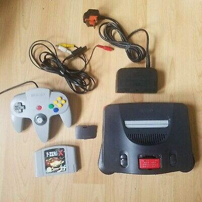 Nintendo N64 With F-Zero X Official Memory Card Expansion Pak Controller Tested