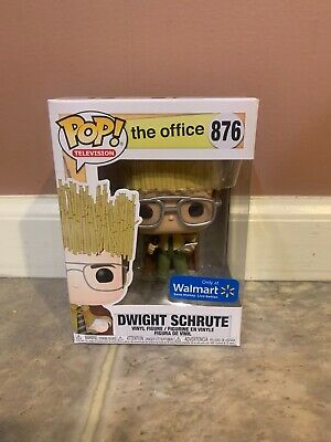 Funko Pop The Office Dwight Schrute Hay King Walmart Exclusive IN HAND DAMAGED