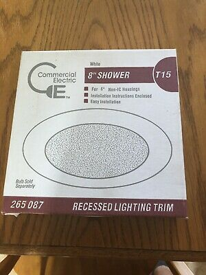 New 6 Inch Recessed Can Light Shower Trim Commercial Electric
