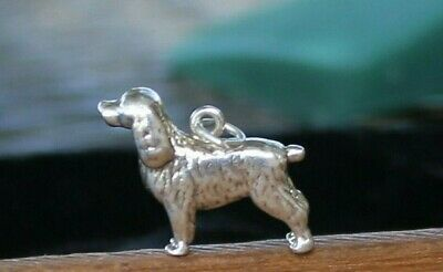 Vintage Heavy, Large Sterling Silver Dog Charm  6.2 Gr.  Free Shipping