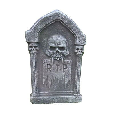 Halloween Tombstone Foam Skeleton Haunted House Stone Party Yard Door Decoration