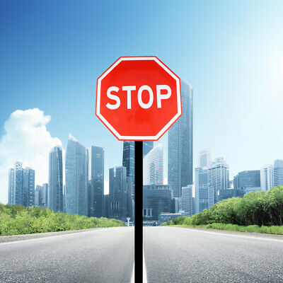 1pc Stop Sign Traffic Street Sign Notice Alert Attention Warning Metal Road Sign
