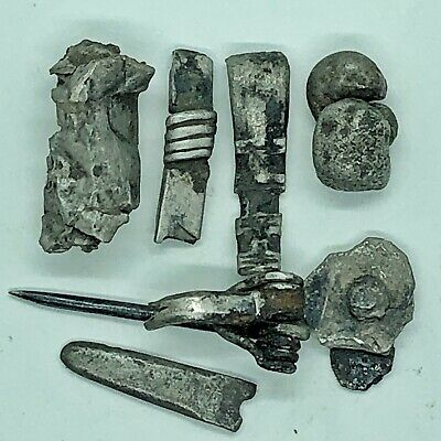 Ancient Roman Silver Artifacts Jewelry Fragments Authentic European Antiquities