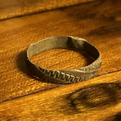 Authentic Post Medieval European Ring Artifact  Found In Modern Day Russia Old