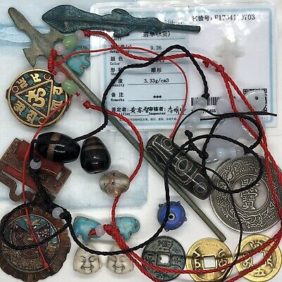 Old Antique Style Vintage Junk Drawer Lot Chinese Asian Collectibles Jewelry P