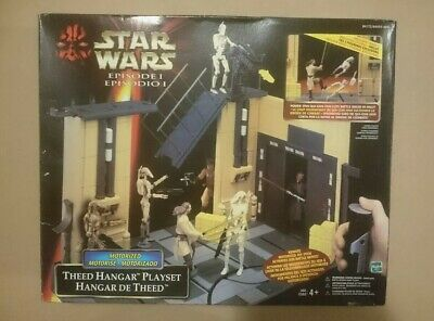 1999 Hasbro Star Wars Episode 1 Theed Hanger Playset Exclusive Figure Sealed MIB