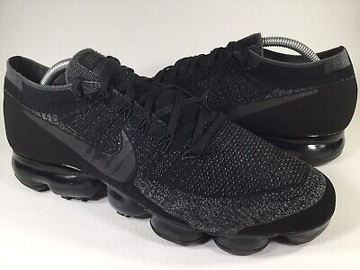 Nike Lab Air Vapormax Flyknit Triple Black Grey Mens Size 10 Rare 899473-003