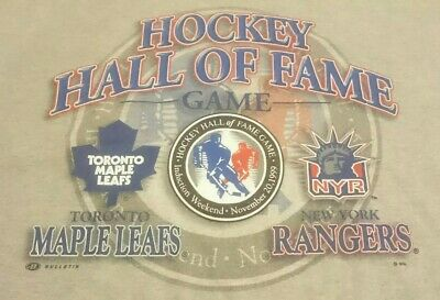 Official 1999 NHL Hockey Hall Of Fame Game Shirt XL Extra Large Wayne Gretzky