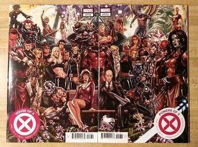 HOUSE OF X & POWERS OF X #1   Mark Brooks Connecting Covers Variant Set   NM