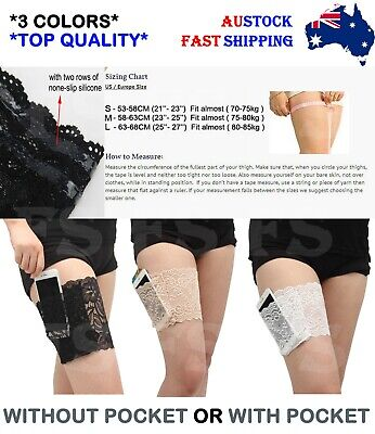 Womens Lace Elastic Anti Chafing Non Slip Socks Thigh Bands Prevent Leg Warmers