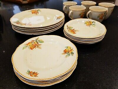 Ridgway Shelton England 20 piece dinner set in great condition vintage