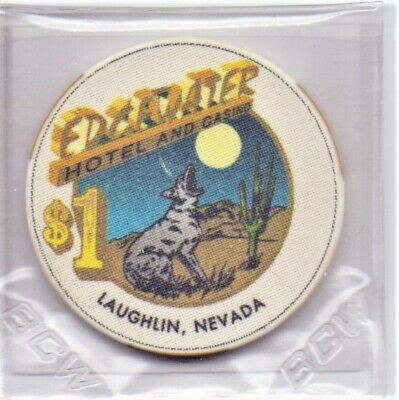 Edgewater Hotel Casino Laughlin NV 1 Dollar Gaming Chip As Pictured