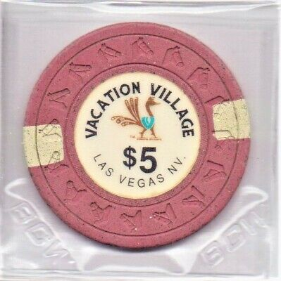 Vacation Village Hotel Casino Las Vegas NV 5 Dollar Gaming Chip As Pictured