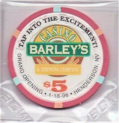 Barley's Casino Henderson NV 5 Dollar Gaming Chip 1996 As Pictured
