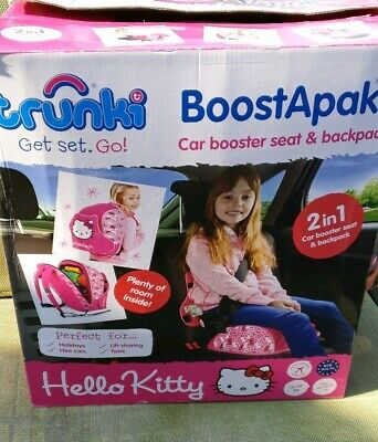 Box Hello Kitty Sanrio Trunki Boostapak Childs Car Seat Backpack Harness Booster