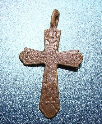 Ancient Bronze Cross. Holy. Old Faith. Original.
