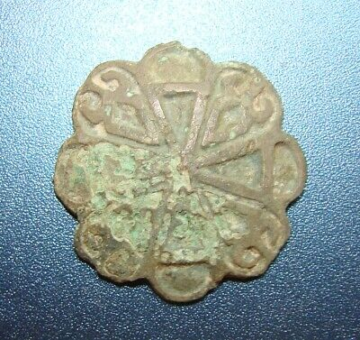 Ancient button Kievan Rus. IX to XIII. Bronze.VERY RARE. Original.