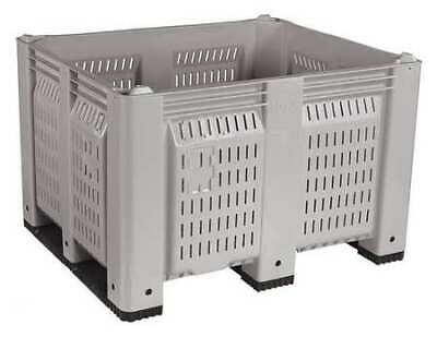"""DECADE PRODUCTS M40PGY3 Bulk Container, Gray, 36-3/4""""W"""