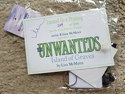 Signed LISA McMANN The Unwanteds First Printing 209/999 Island of Graves Kilian