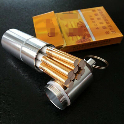 Metal Cigarette Case Mini Box Moisture-proof with Keychain Practical Portable HM