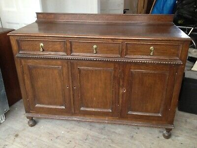 Victorian Solid Oak/Mahogany? Sideboard/Dresser with 2 Drawers, 3 cupboards.SW19