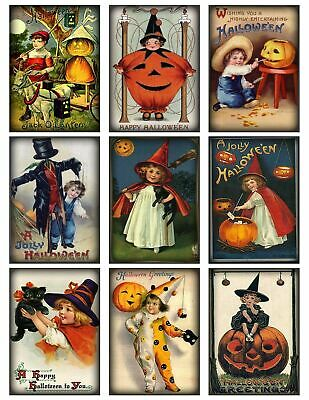 Halloween Scarecrow Glossy Finish Card Making Topper / Craft Embellishment