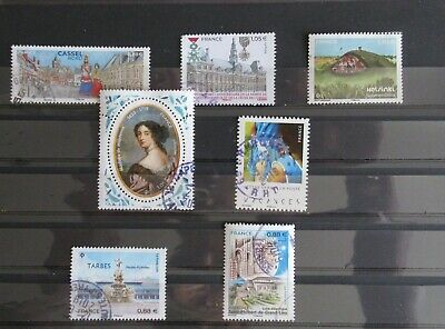 Lot 7 Timbres 2019 Cachets Ronds