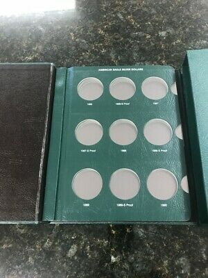 Proof USA Intercept Shield Coin Album American Eagle Silver Dollars 2004-2012