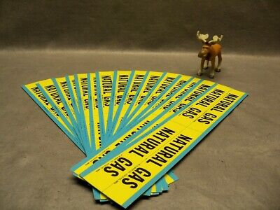 Brady Natural Gas Pipe Marker 4 per Card Lot of 16