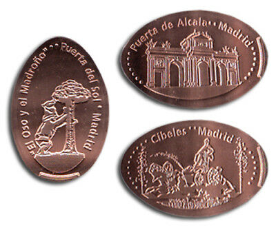 Quiosco Alcalde Madrid - M027 - Moneda Elongada - Elongated Coin