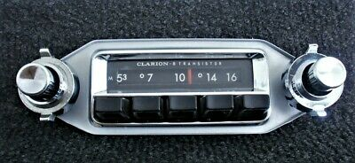vintage CLARION Classic US Car Radio Solid State CR-208E works 6V / 12V TOP! ´65