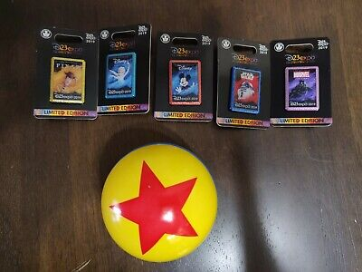 2019 D23 Disney Dream Store Character Logo Pin Set of 5- LE 1000 w Pixar Ball