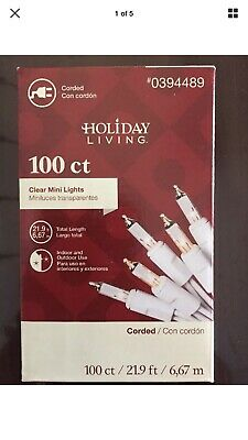 100 Clear Mini White Cord Wire Christmas Tree String Lights Holiday Party Living