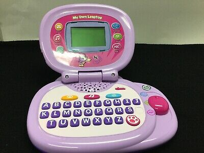 LEAPFROG My Own Leaptop Interactive Laptop Computer For Kids Purple 2010 Tested