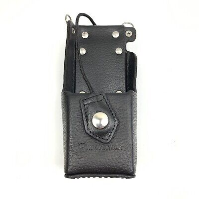 Motorola 4205857B09 Leather Radio Carry Case Belt Hoop