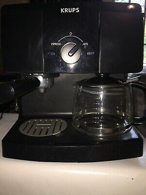 Krups XP1500 10 Cup Coffee And Espresso Maker & Press- Missing Expresso Carafe