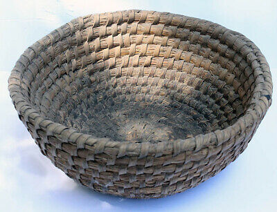 19Th Century Antique Primitive Pennsylvania Rye Basket Aafa