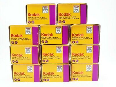 LOT OF 11 Kodak Film 35mm BRIGHT SUN & FLASH 200 12 Exp. Expired 08/2004